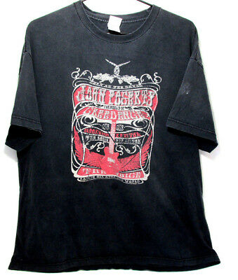 JOHN FOGERTY DS ROCKIN' ALL OVER THE WORLD 2006 VINTAGE T SHIRT SIZE XXL RARE