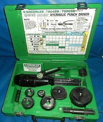 Greenlee 7804sb 7806sb Hydraulic Punch Driver Kit Quick Draw Slugbuster Wmanual
