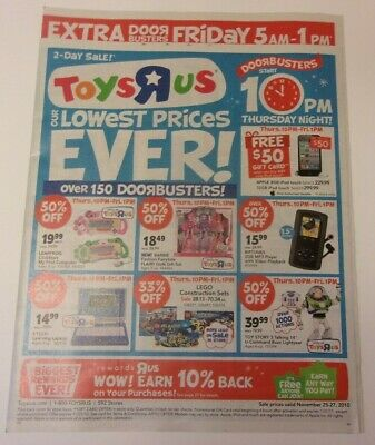 Toys R Us store sales ad: Thanksgiving and Black Friday 2010, doorbusters