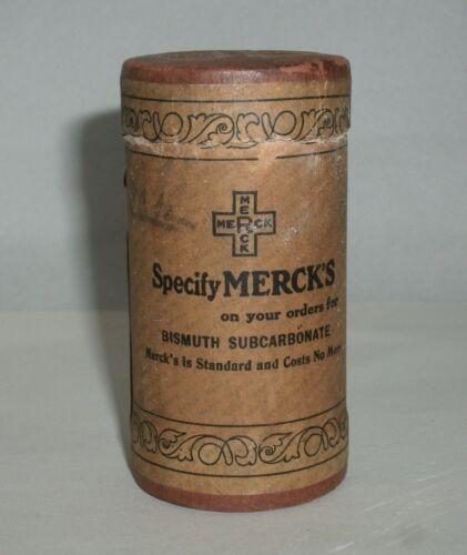 Antique Merck Medicine Powder Container Apothecary Cardboard BOX Not Tin/bottle