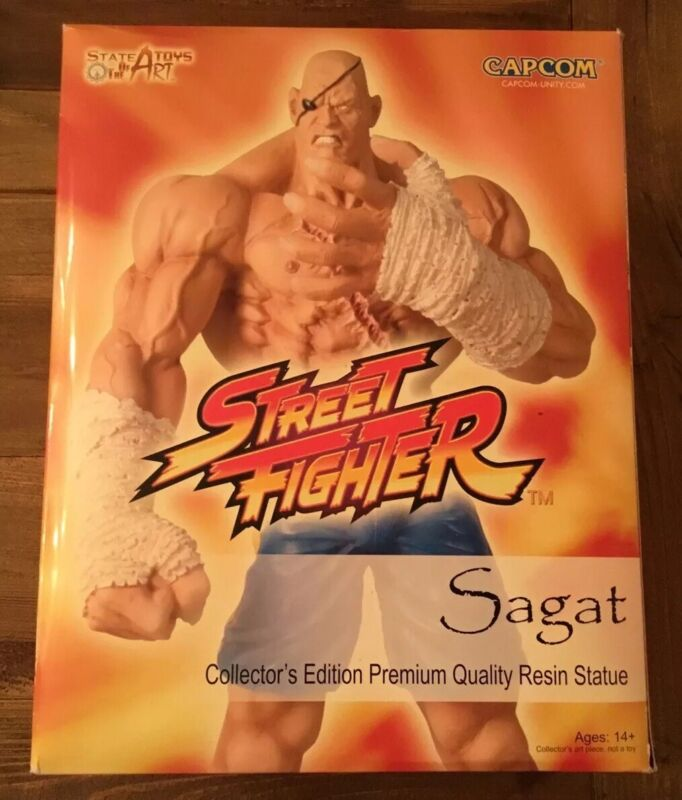 Sota Street Fighter Sagat Resin Statue! New In Box! #149 Of 400! Htf! 2008