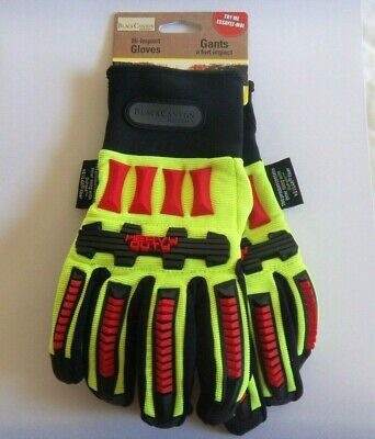 BLACK CANYON OUTFITTERS HI VISIBILITY HI IMPACT  WORK GLOVES   SIZE LARGE Impact Hi Visibility