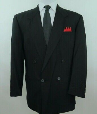 Versace V2 The Forum Men's Wool Black Striped Blazer Jacket Sport Coat 40 R USA