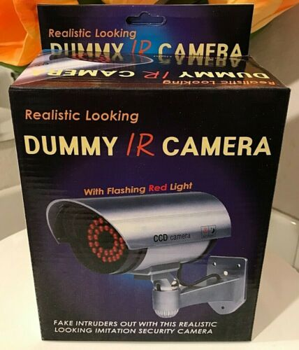 REALISTIC LOOKING Faux Fake CCD Dummy IR Camera with Flashing Red Light BLACK