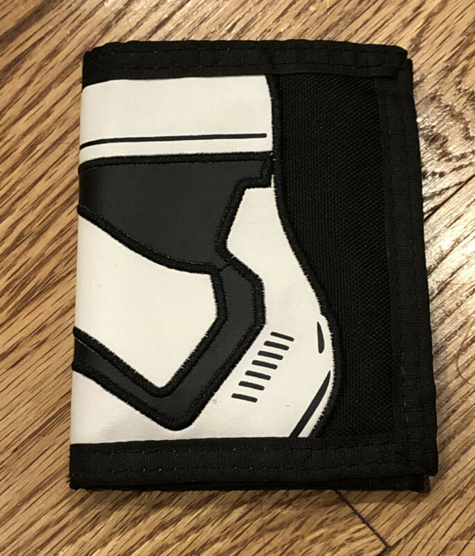 Kids Adult Star Wars Tri Fold Wallet Black White Storm Troopers