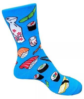 Japanese sushi food socks novelty fun gift unisex size 4-8