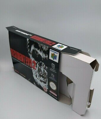 Resident Evil 2 - reproduction box with insert - N64 - Pal or NTSC REGION.