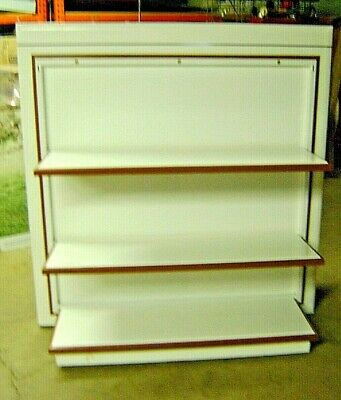 Retail White Display 10 Folding Shelf Rack