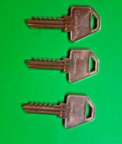 EMHART-CORBIN-RUSSWIN RARE H12 6 PIN SECURITY KEY BLANKS (3) LOCKSMITH LOCKSPORT