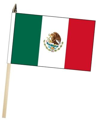 México Grande para Agitar con Mano Bandera Cortesía