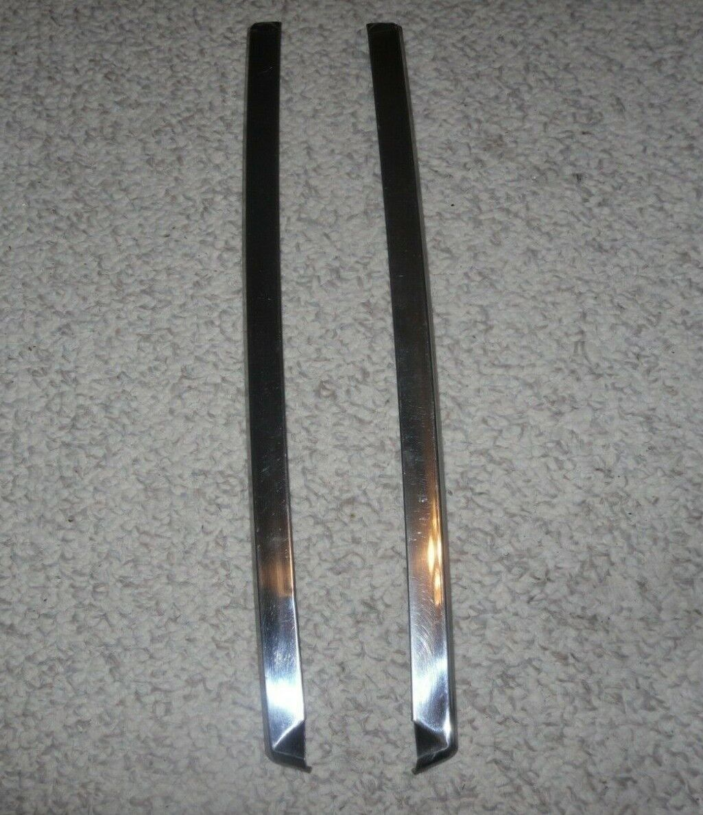 1977 Ford Truck Stainless Windshield Trim : Left & Right sides Moulding Uprights