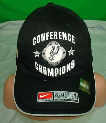 NIKE New San Antonio Spurs NBA 2003 Western Conference Champions Hat NOS Duncan