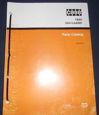 Case 1840 Uni-loader Skid Steer Parts Book Manual