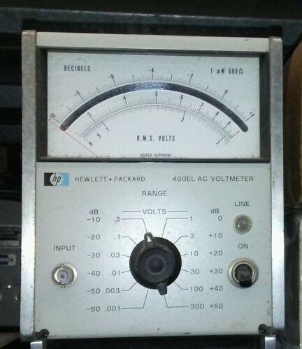 HP 400EL AC Voltmeter 0-300 Volts -60 to +50 dB