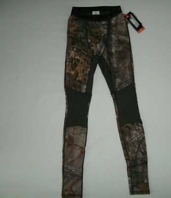 7691bcc9c839e UNDER ARMOUR Realtree Camo REVERSIBLE WOOL BaseLayer Hunting LEGGINGS Mens  SMALL