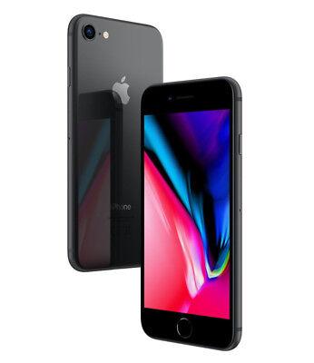 APPLE IPHONE 8 64GB SCHWARZ GRAU NEUE ORIGINAL 24 MONAT GARANTIE 64 GB