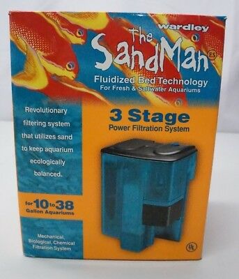 Wardley Sand Man 3 Stage Fish Tank Filtration System 10-38 Gallons NEW