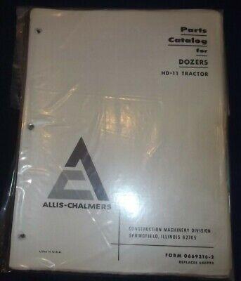 Allis Chalmers Hd-11 Crawler Tractor Dozer Bulldozer Parts Manual Book 2 Books