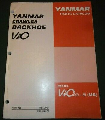 Yanmar Vio40-2 Crawler Backhoe Excavator Parts Manual Book Catalog