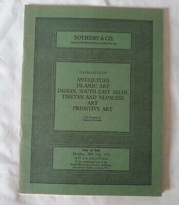 sothebys catalogue antiquities islamic indian se asian tibetan primitive art J75
