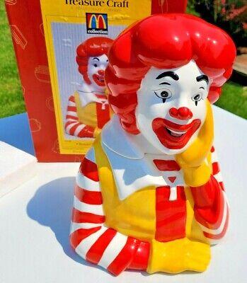 WOW! Ronald McDonald Treasure Craft McDonald's Cookie Jar In Box 1997 EXCELLENT!