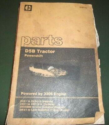 Cat Caterpillar D5b Crawler Tractor Dozer Parts Manual Book Sn 24x 25x