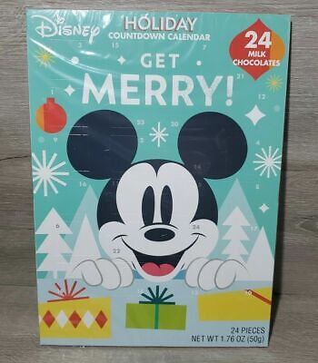 Disney Mickey Holiday Countdown Calendar 24 Chocolates - Expires July 2023