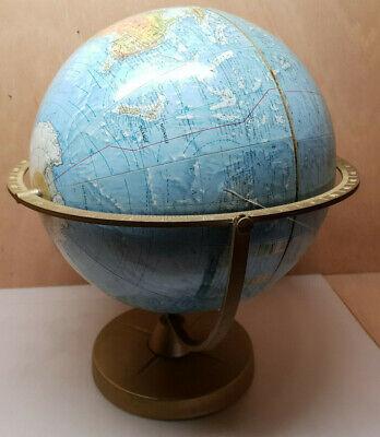 15,2 x 30,4 cm Fieanxi Placa Decorativa de Metal con dise/ño de Mapa del Mundo de Acuarela