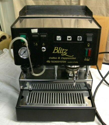 Tecnosystem Espresso & Cappuccino Machine ~ Made in Italy ~ Black