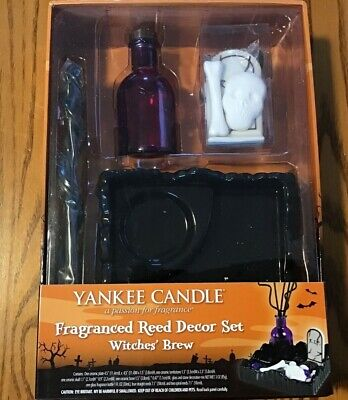 2010 Yankee Candle Halloween Witches' Brew Fragranced Reed Decor Set NEW