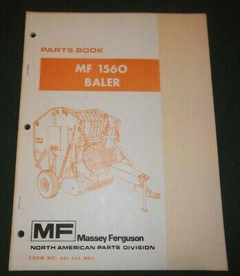 Massey Ferguson Mf-1560 Baler Parts Manual Book Catalog Oem Original