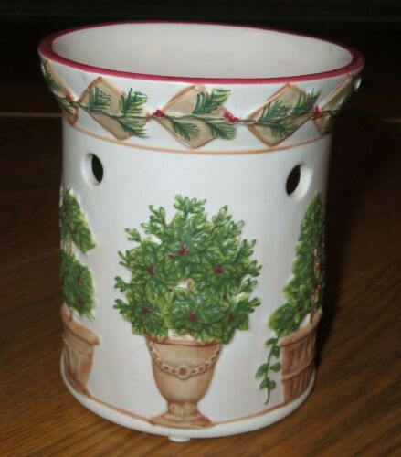 YANKEE CANDLE Ivory TOPIARY TREES Tealight VOTIVE CANDLE Tart Warmer/Melter