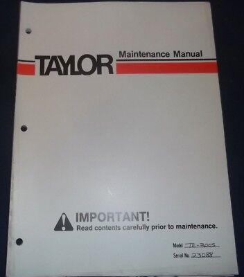 Taylor Te-300s Forklift Lift Truck Service Maintenance Manual Book