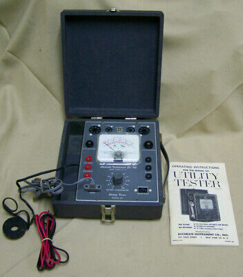 Vintage Accurate Instrument Utilitytube Tester 161 W Eveready Neda 8 Battery