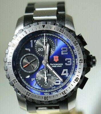 Swiss Victorinox Alpnoch 241194 Chronograph Automatic Mens 43MM Watch