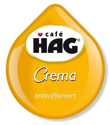 8 x Tassimo Cafe HAG Crema Decaffeinated T Discs Pods Sold Loose 8 Decaf Drinks