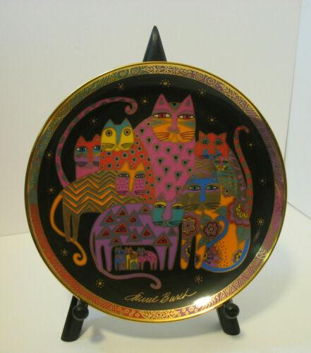 Laurel Burch Cat Plate Fabulous Felines Franklin Mint Heirloom HD7532