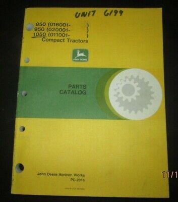 John Deere 850 950 1050 Compact Tractors Parts Manual Catalog Book Original