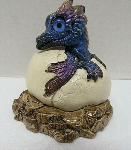 Vintage WINDSTONE Editions California PENA Hatching Baby Dragon Figure PEACOCK