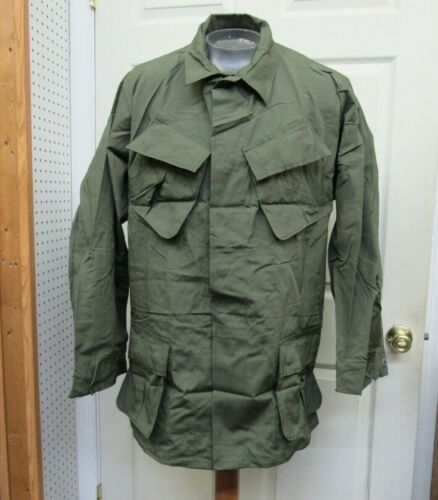 Vietnam Era US Jungle Jacket Shirt Tropical Coat 1969 OG 107 Large Long NOS
