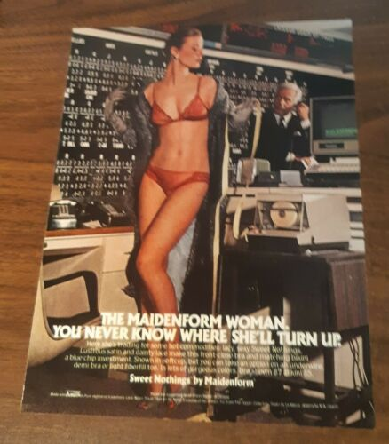 1980 1 PAGE ADVERTISEMENT Maidenform Bra Panty  Commodities AD