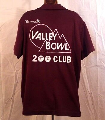 "VALLEY BOWL 200 CLUB ""Dottie""- WOMEN'S BOWLING SHIRT -1970s Vintage VG SAN DIEGO"