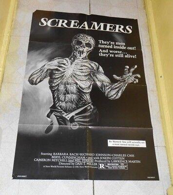 original SCREAMERS one-sheet poster Richard Johnson Barbara Bach
