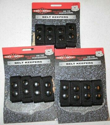 3 Packs Of 4 Tru-spec Professional Belt Keepers 4109 Nylon Black