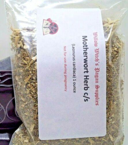 Motherwort Herb c/s 1 ounce Wicca Hoodoo Witchcraft Voodoo Pagan supplies