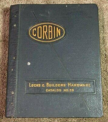Vintage 1940 CORBIN Catalog Door Locks Handles Hardware Keys Locksmith Hardware