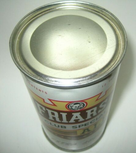 Old FRIARS ALE FLAT TOP BEER CAN South Bend, Indiana NICE!!!