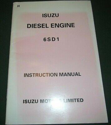 ISUZE 6SD1 ENGINE OPERATOR OPERATION & MAINTENANCE MANUAL BOOK