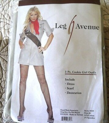 Cookie Girl Costume with Stockings, Leg Avenue, 3 Piece, Size M (Cookie Girl Costume)