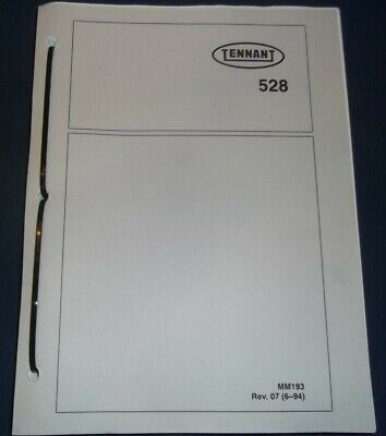 Tennant 528 Floor Sweeper Scrubber Cleaner Parts Manual Book Catalog